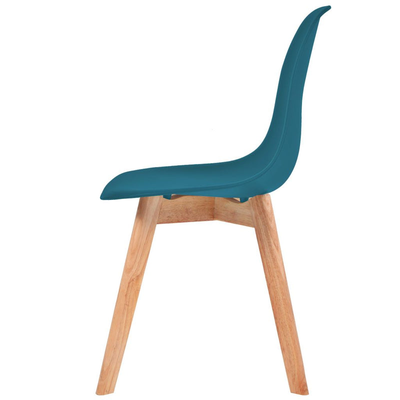 Dining Chairs 6 pcs Turquoise Plastic