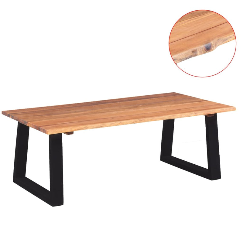 Coffee Table Solid Acacia Wood 110x60x40 cm