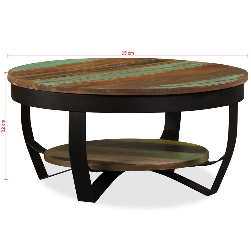 Coffee Table 65 cm Solid Reclaimed Wood