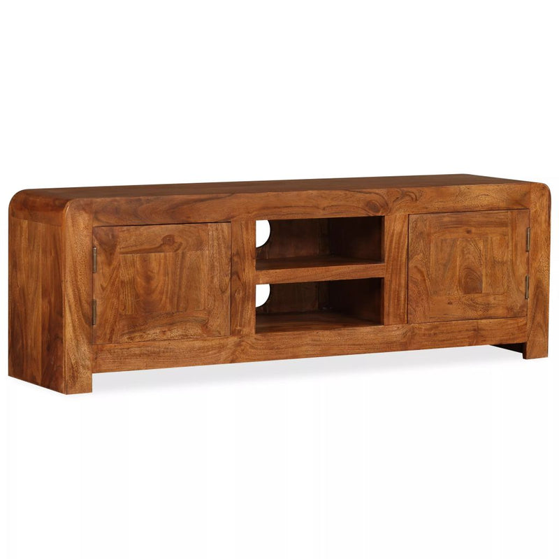 TV Cabinet 120x30x40 cm Solid Wood with Sheesham Finish
