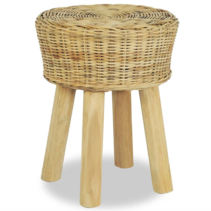 Bar Stool Natural Rattan