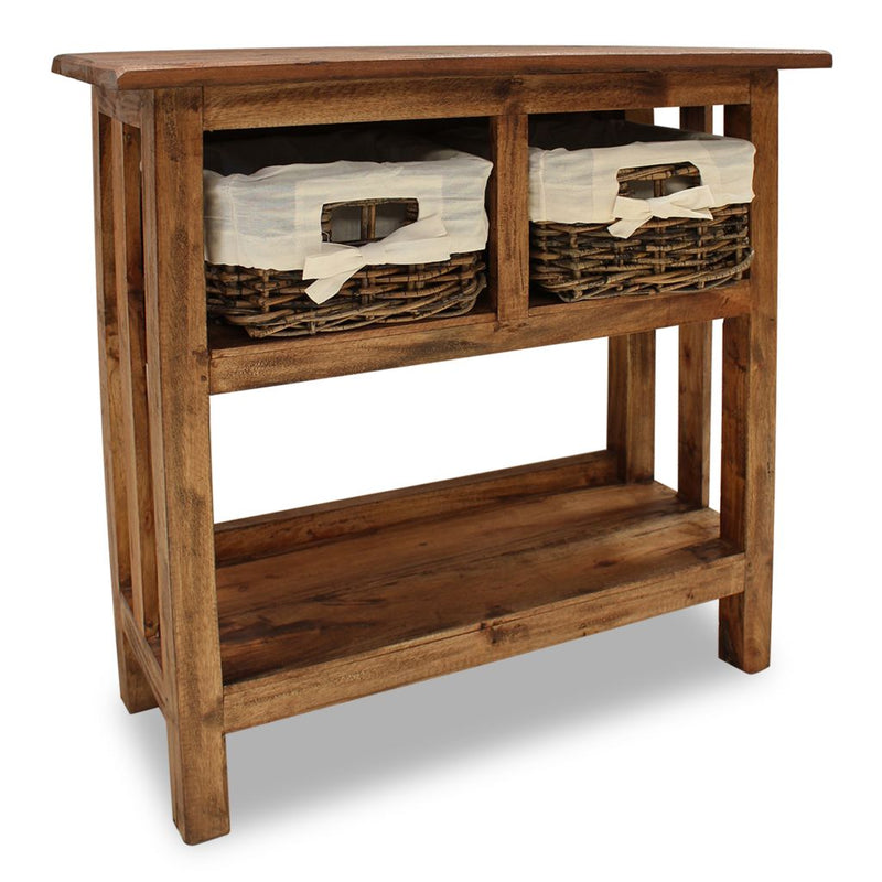 Console Table Solid Reclaimed Wood 69x28x70 cm