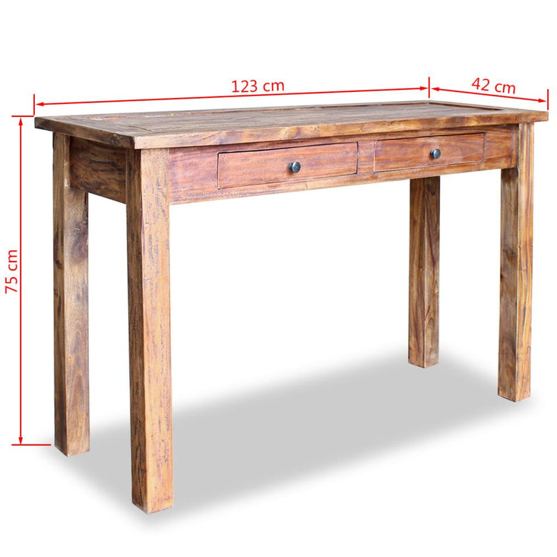 Console Table Solid Reclaimed Wood 123x42x75 cm