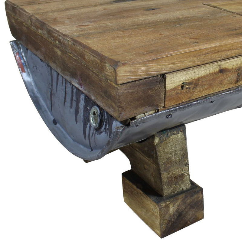 Coffee Table Solid Reclaimed Wood 90x50x35 cm