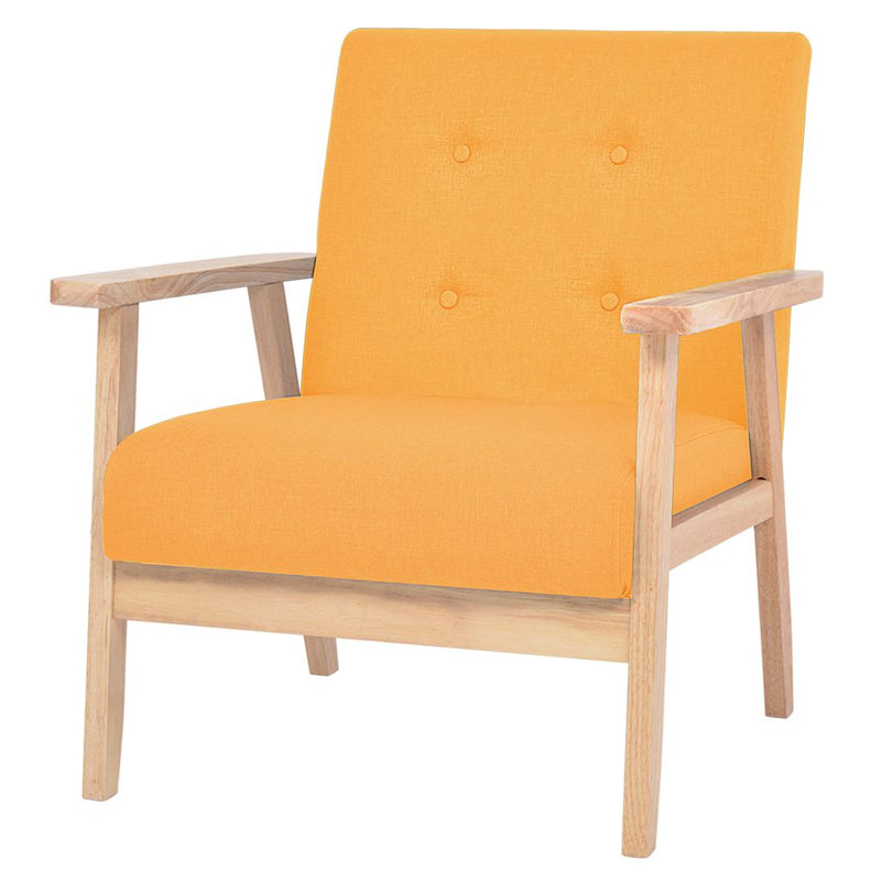 Armchair Yellow Fabric