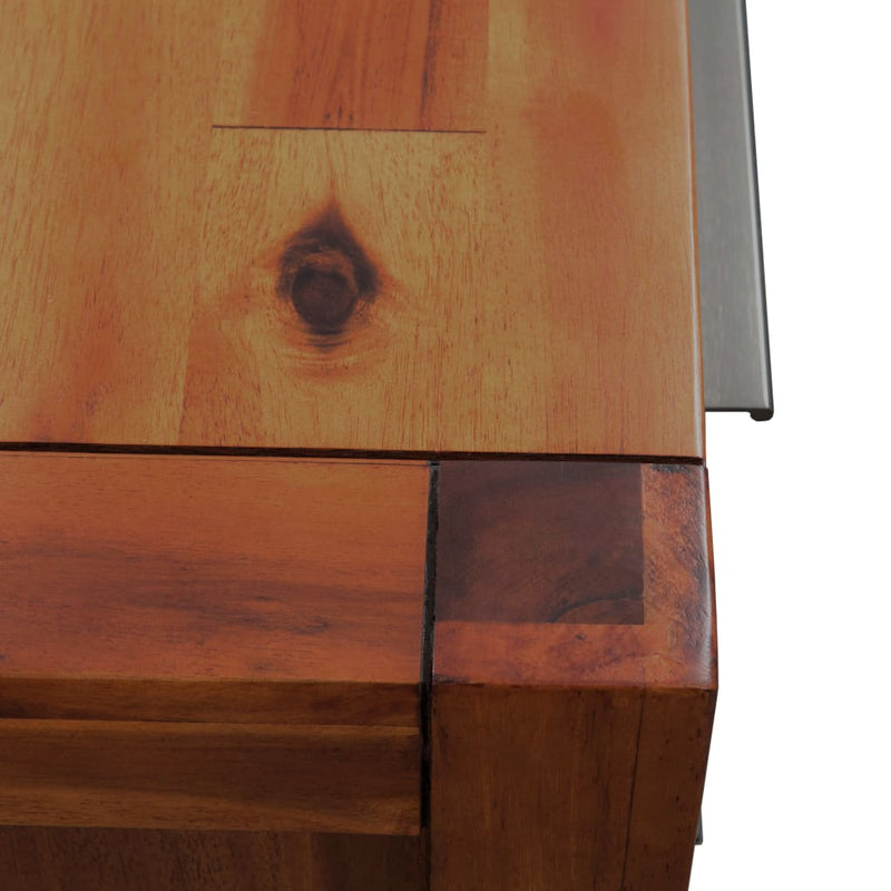 Chest of Drawers Solid Acacia Wood 45x32x115 cm