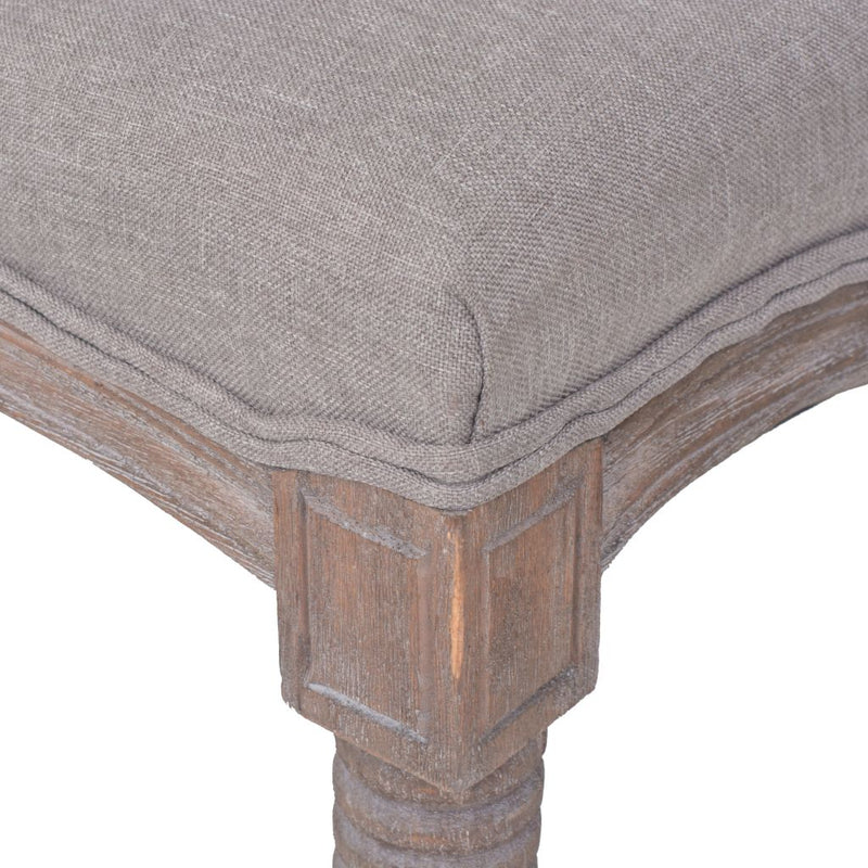 Bench Linen Solid Wood 150x40x48 cm Light Grey