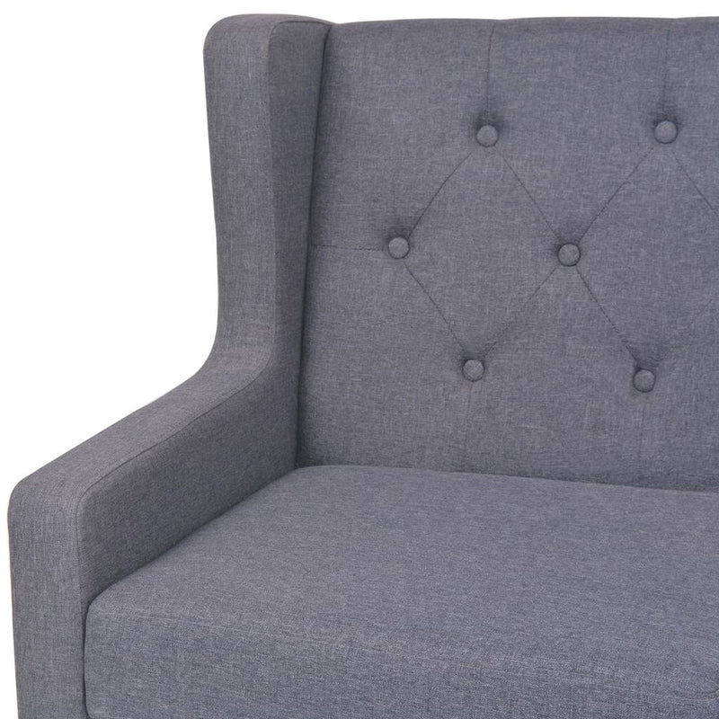 3 Seater Sofa Fabric Grey