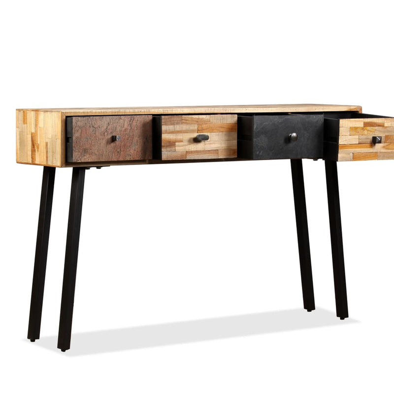 Console Table 120x30x76 cm Solid Reclaimed Teak