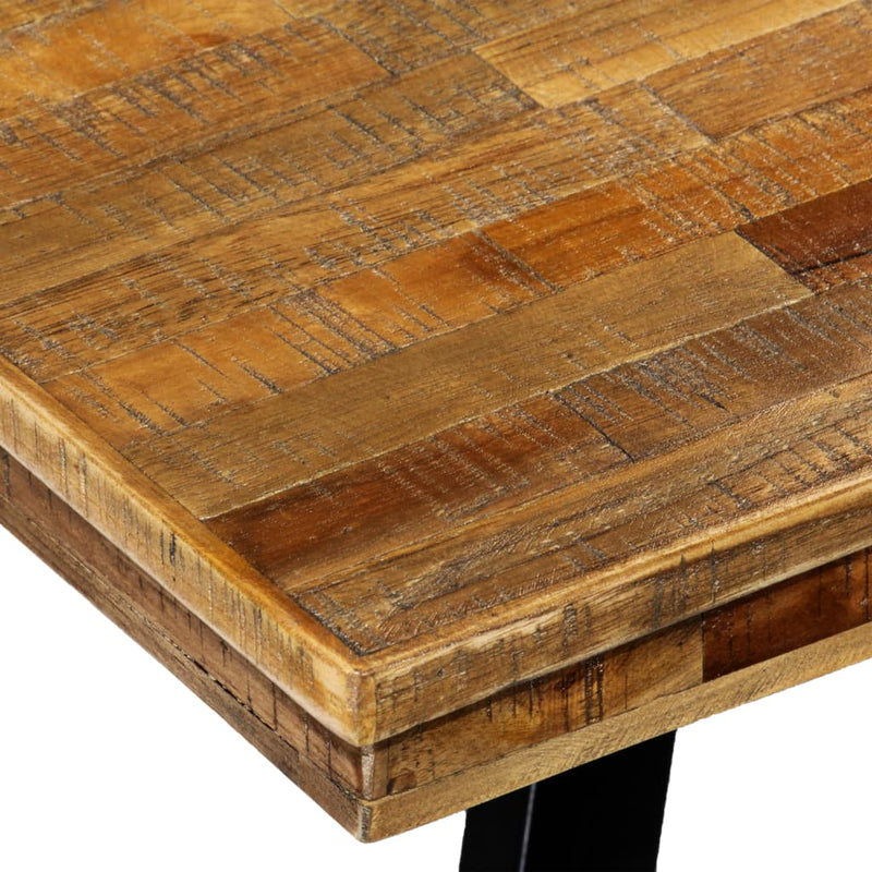 Dining Table Reclaimed Teak and Steel 180x90x76 cm