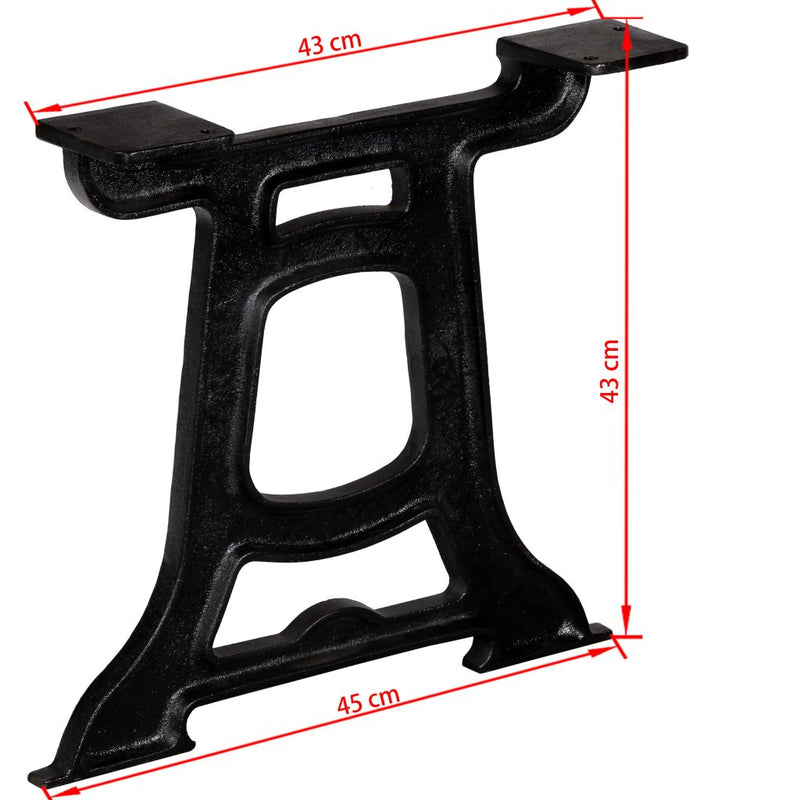 Coffee Table Legs 2 pcs Y-Frame Cast Iron