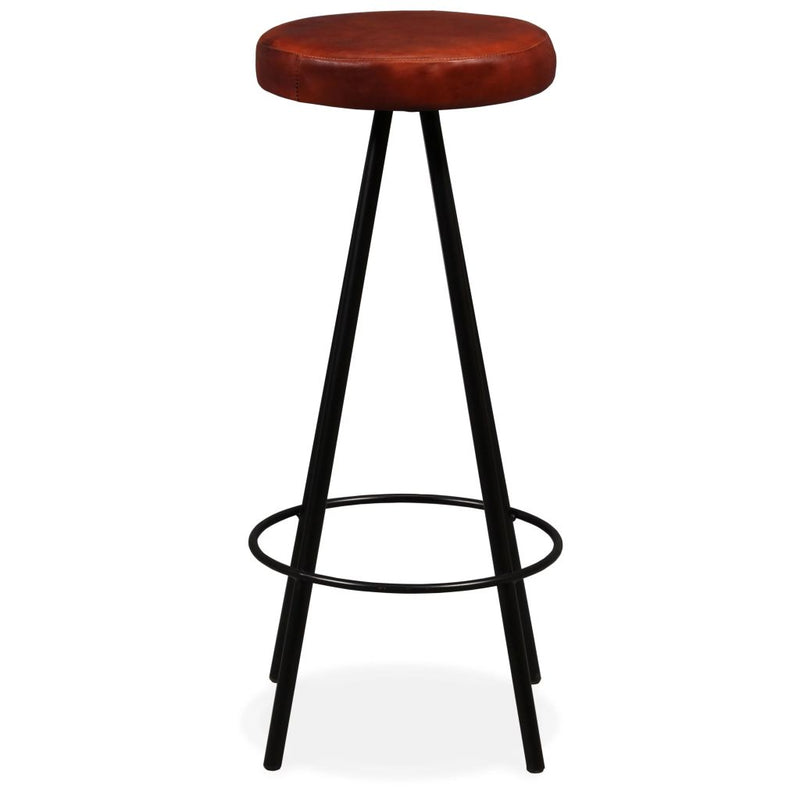 Bar Stools 4 pcs Real Leather
