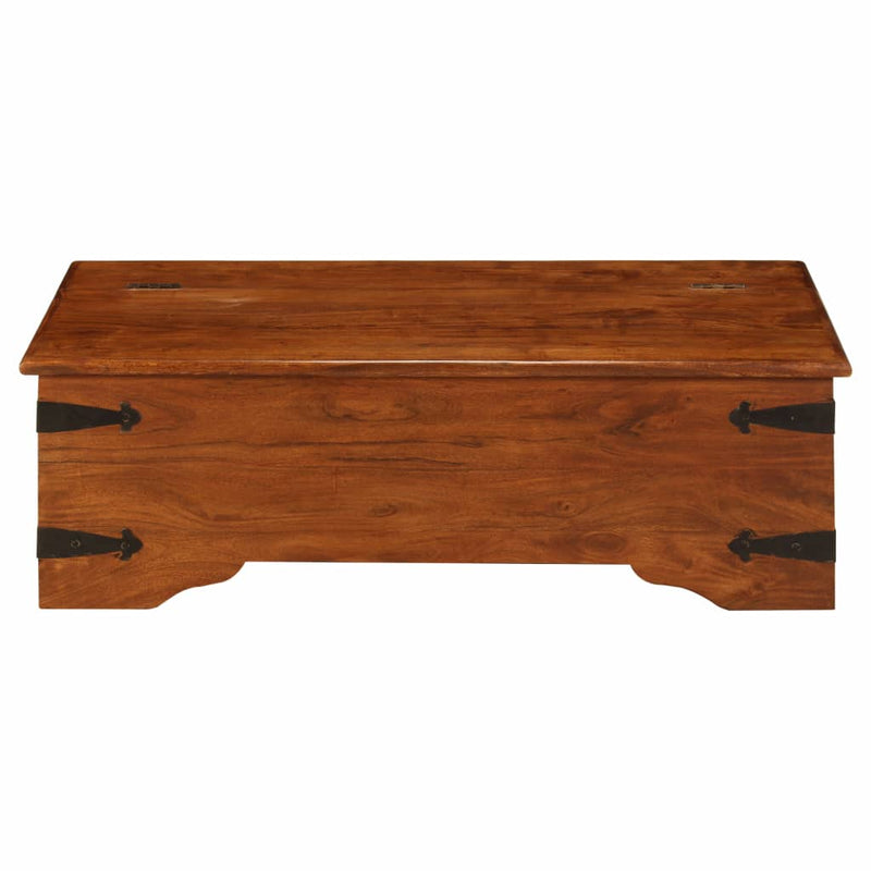 Coffee Table Solid Acacia Wood Sheesham Finish 110x55x35 cm