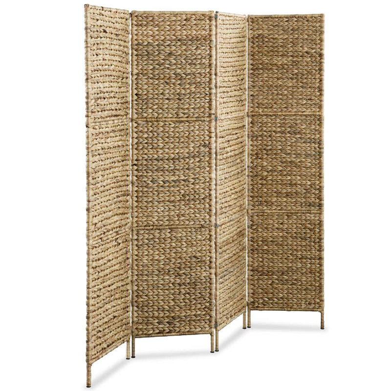 4-Panel Room Divider 154x160 cm Water Hyacinth