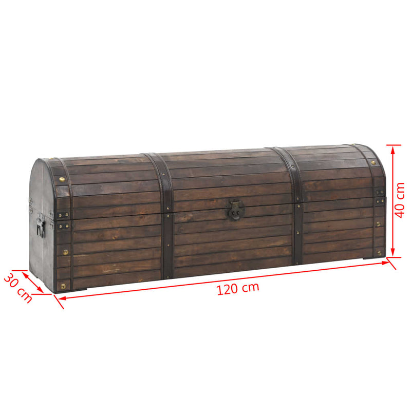 Storage Chest Solid Wood Vintage Style 120x30x40 cm