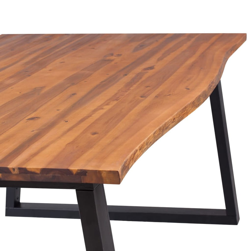 Dining Table Solid Acacia Wood 200x90x75 cm