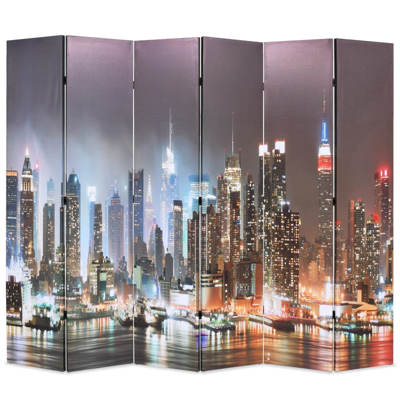Folding Room Divider 228x170 cm New York by Night