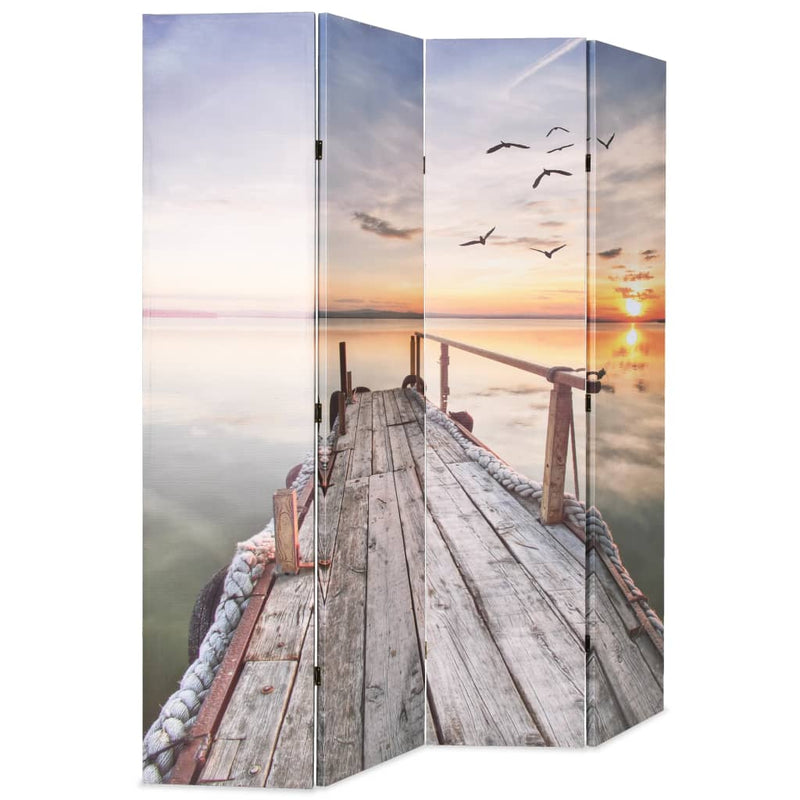 Folding Room Divider 160x170 cm Lake