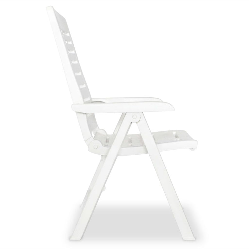 5 Piece Outdoor Dining Set Plastic White