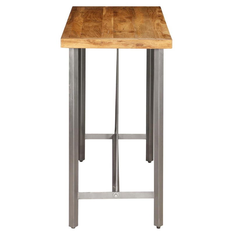 Bar Table Solid Reclaimed Teak 120x58x106 cm