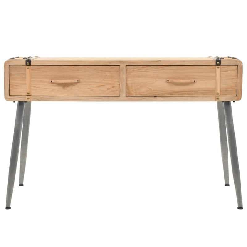 Console Table Solid Fir Wood 115x40.5x76 cm