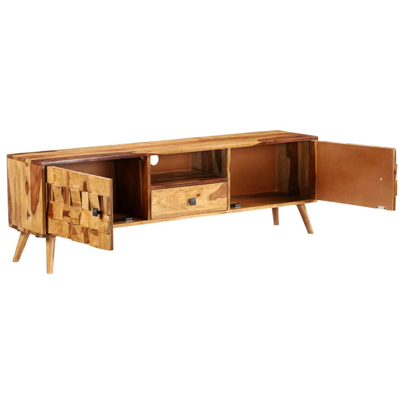 TV Cabinet Solid Sheesham Wood with Honey Finish 140x30x40 cm