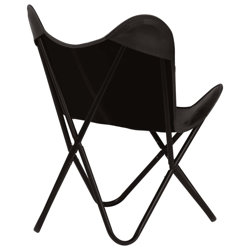 Butterfly Chair Black Kids Size Real Leather