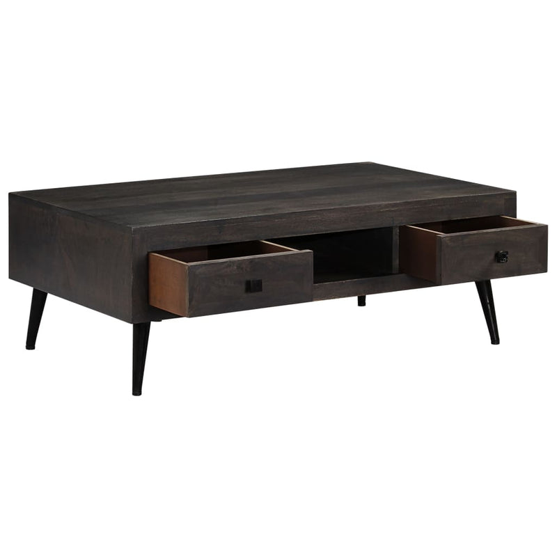 Coffee Table Solid Mango Wood 100x60x35 cm