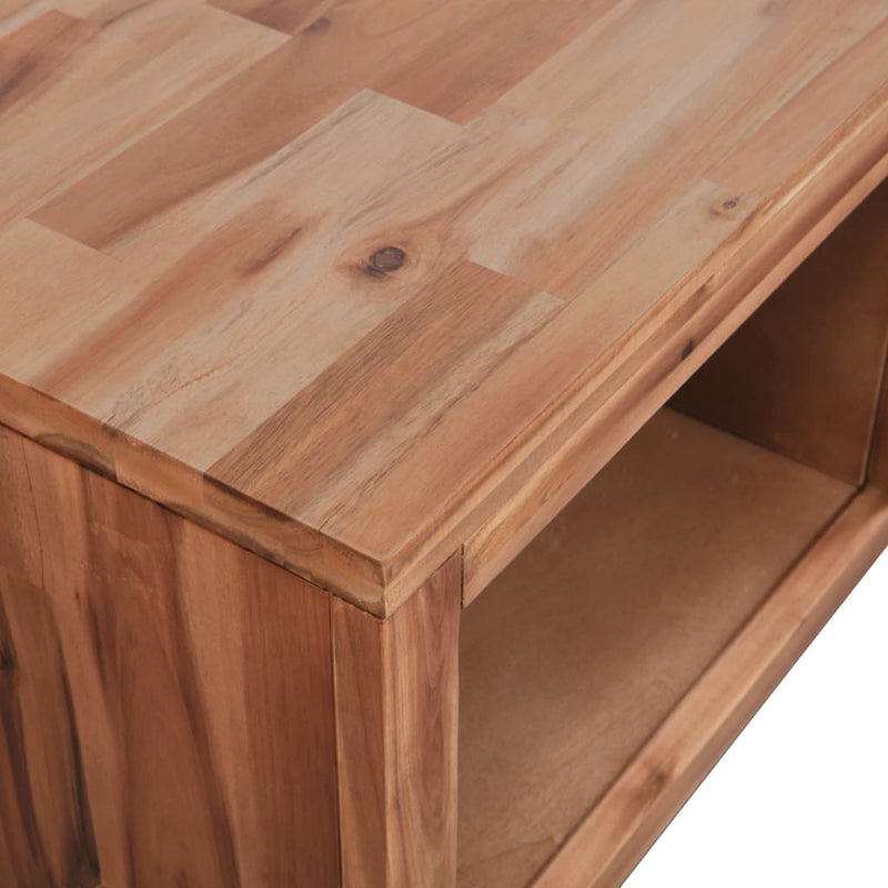 Coffee Table Solid Acacia Wood 90x50x37.5 cm