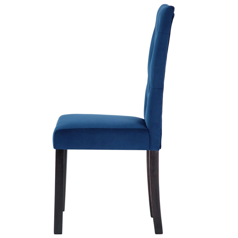 Dining Chairs 6 pcs Dark Blue Velvet