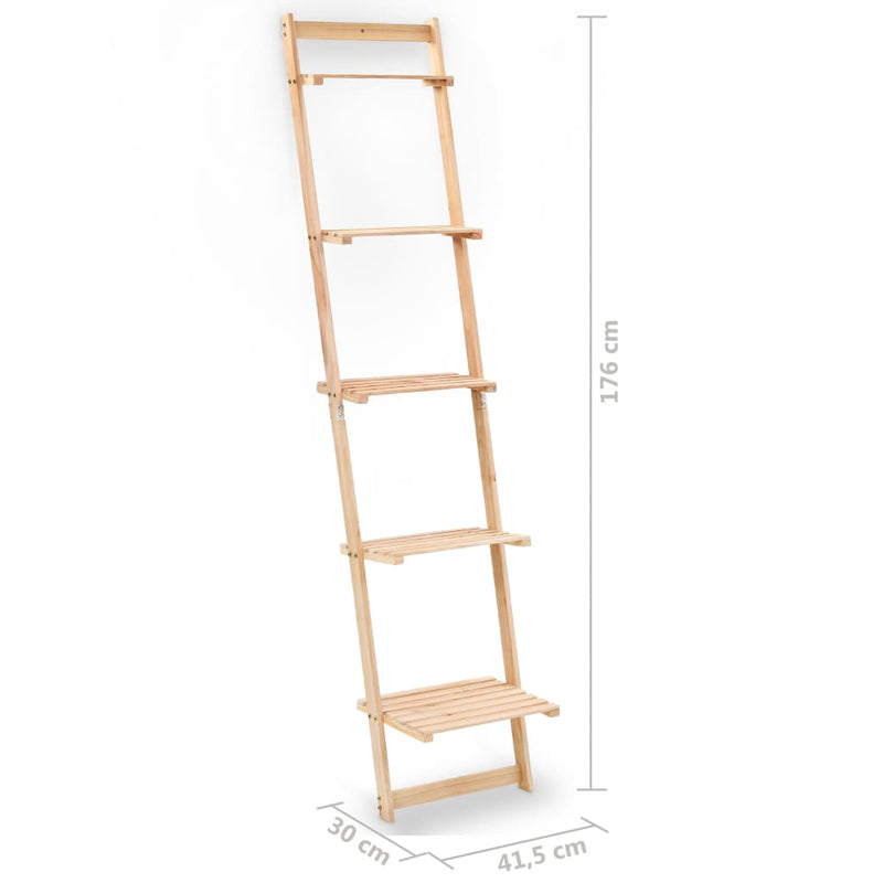 Ladder Wall Shelf Cedar Wood 41,5x30x176 cm