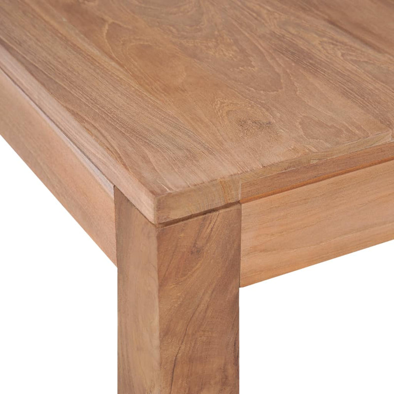 Coffee Table Solid Teak Wood with Natural Finish 110x60x40 cm