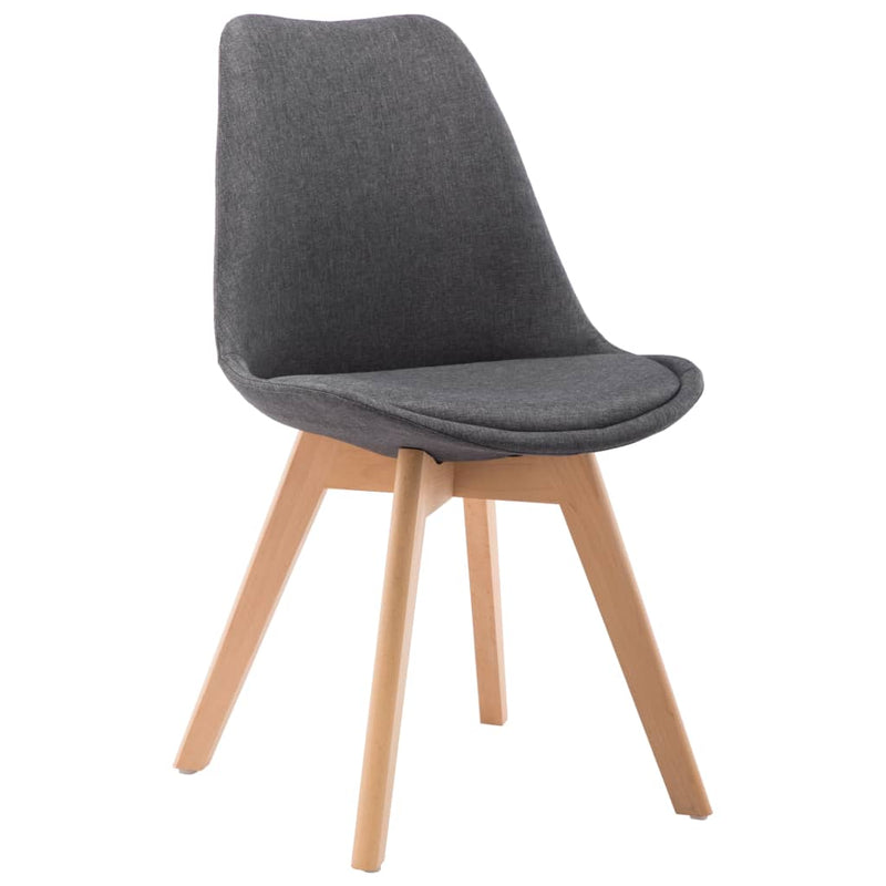 Dining Chairs 4 pcs Dark Grey Fabric