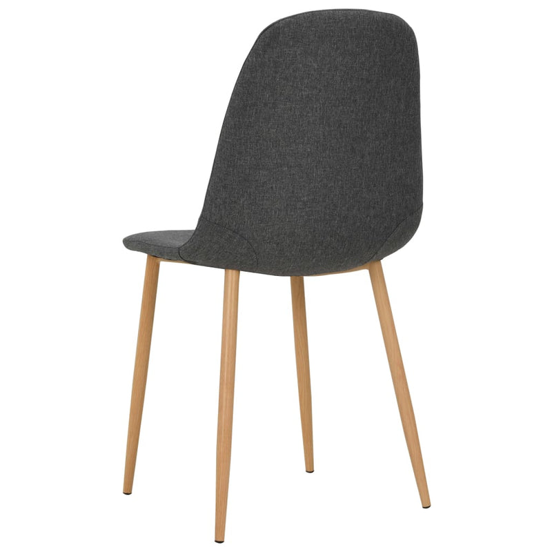 Dining Chairs 2 pcs Dark Grey Fabric
