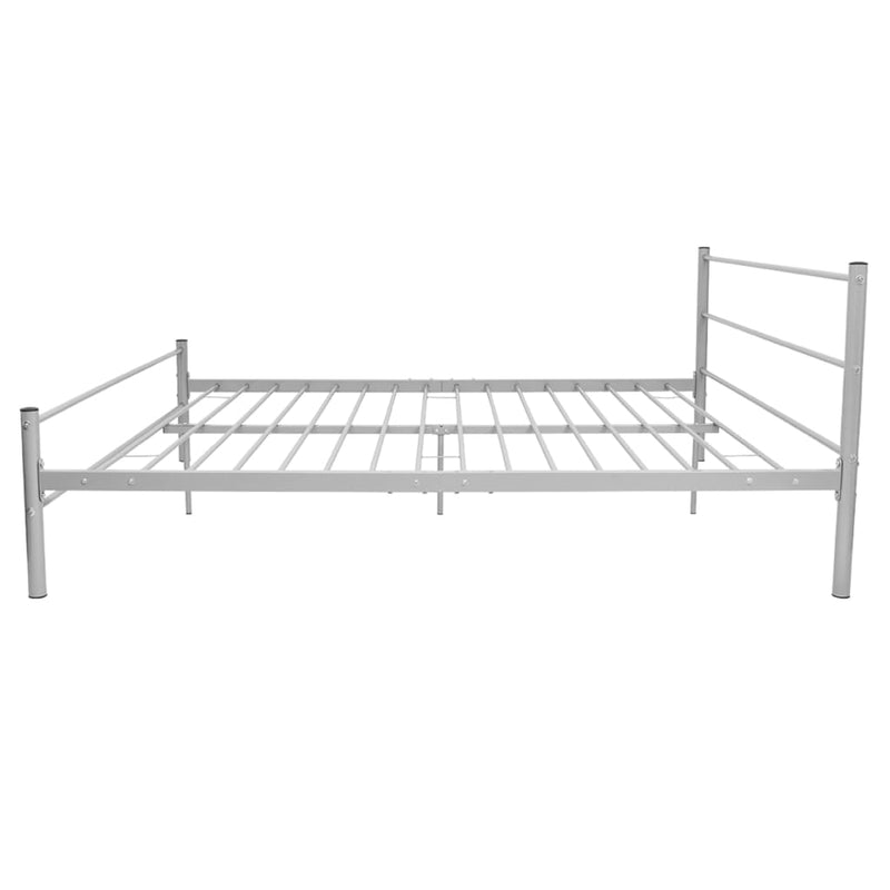 Bed Frame Grey Metal Queen Size