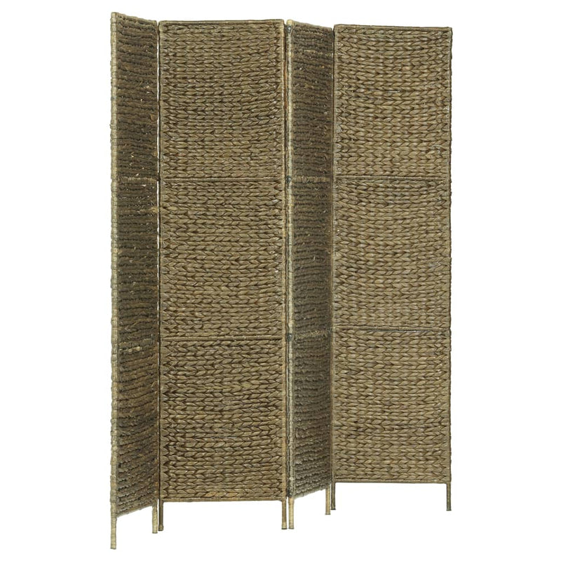 4-Panel Room Divider Brown 154x160 cm Water Hyacinth