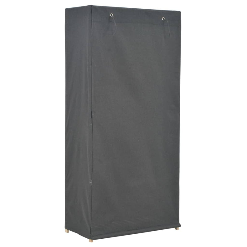 Wardrobe Grey 79x40x170 cm Fabric