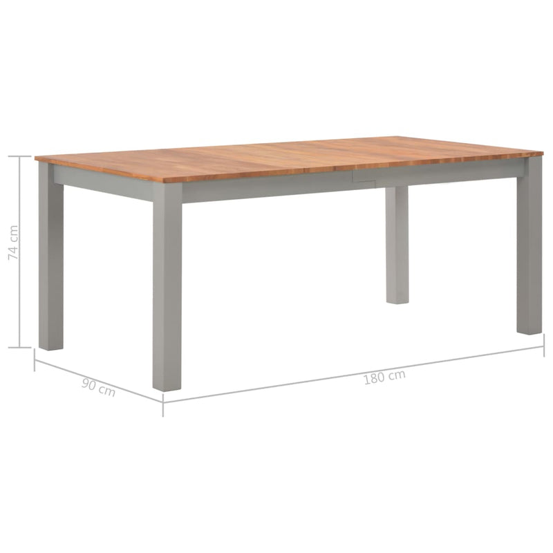 Dining Table 180x90x74 cm Solid Oak Wood