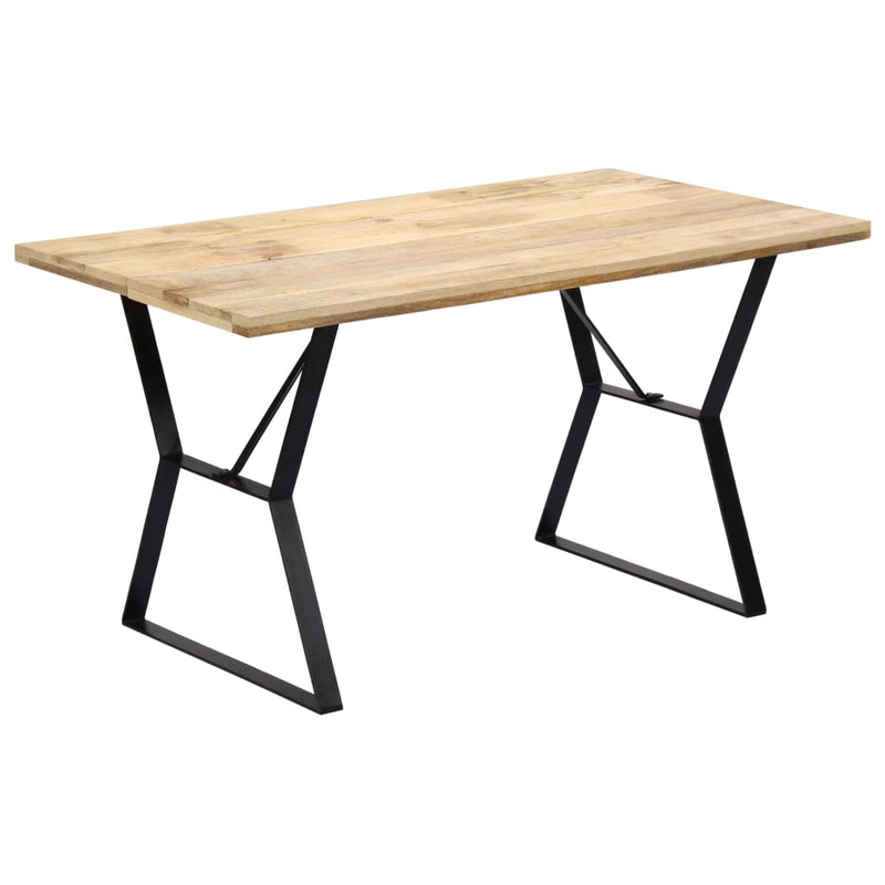 Dining Table 140x80x76 cm Solid Mango Wood