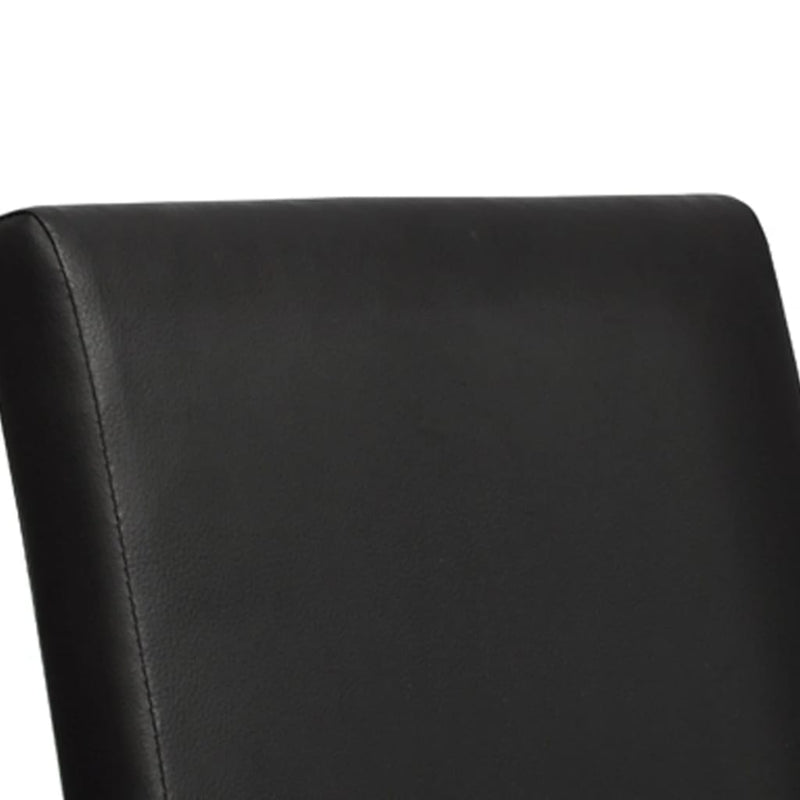 Dining Chairs 6 pcs Black Faux Leather