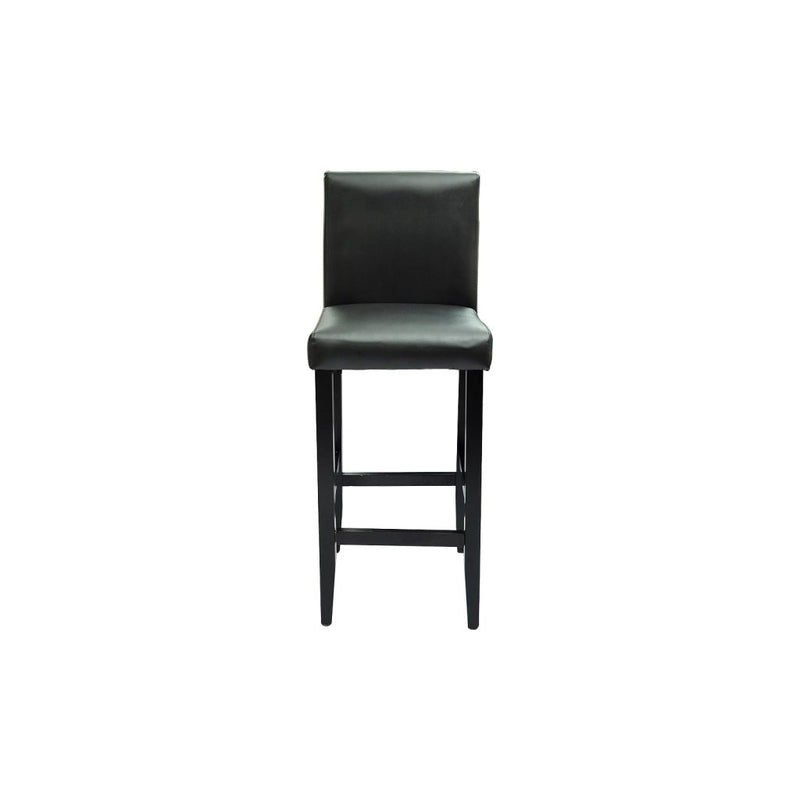 Bar Stools 4 pcs Black Faux Leather