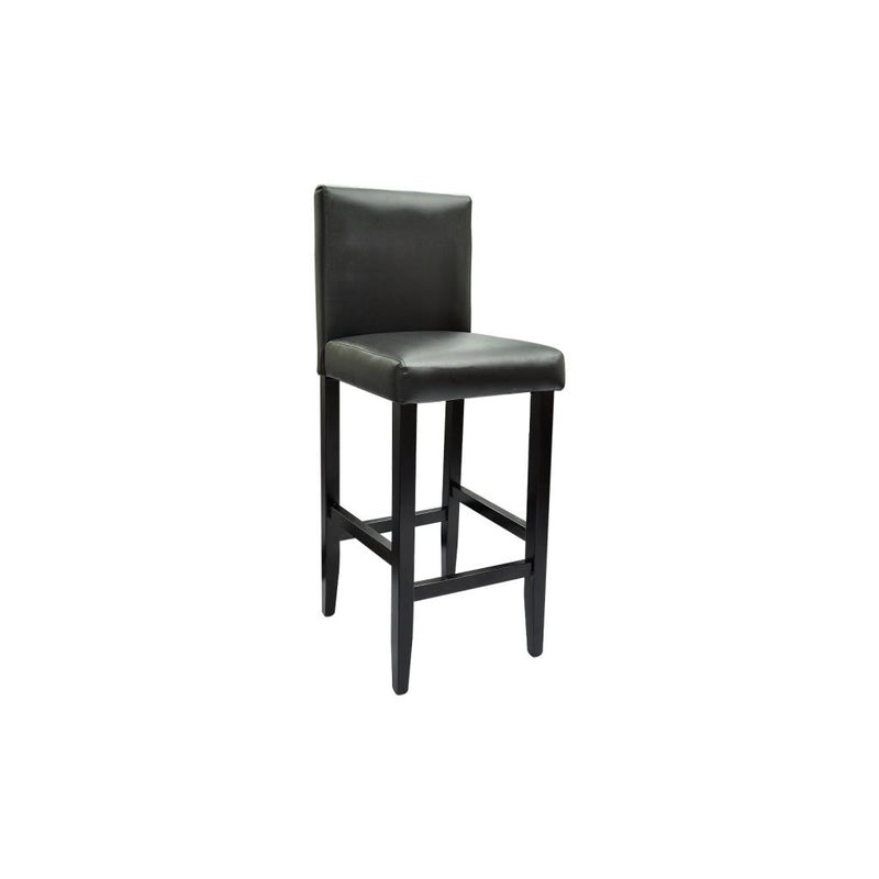 Bar Table with 2 Bar Chairs Black