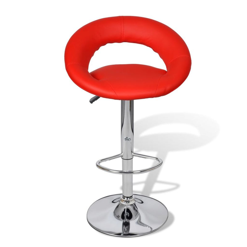 Bar Stools 2 pcs Red Faux Leather