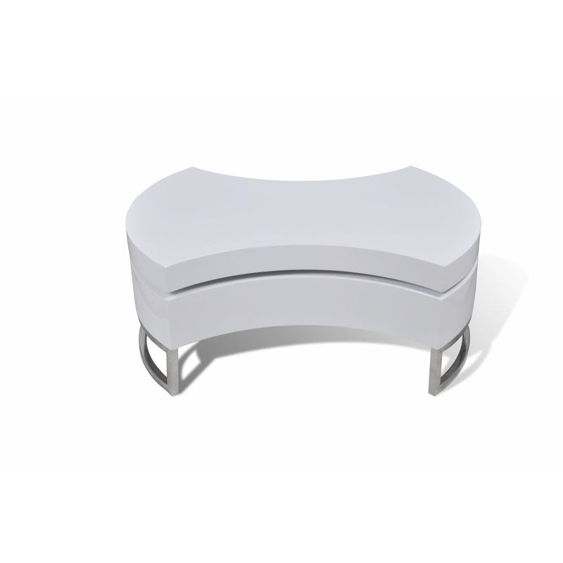 Coffee Table Shape-adjustable High Gloss White