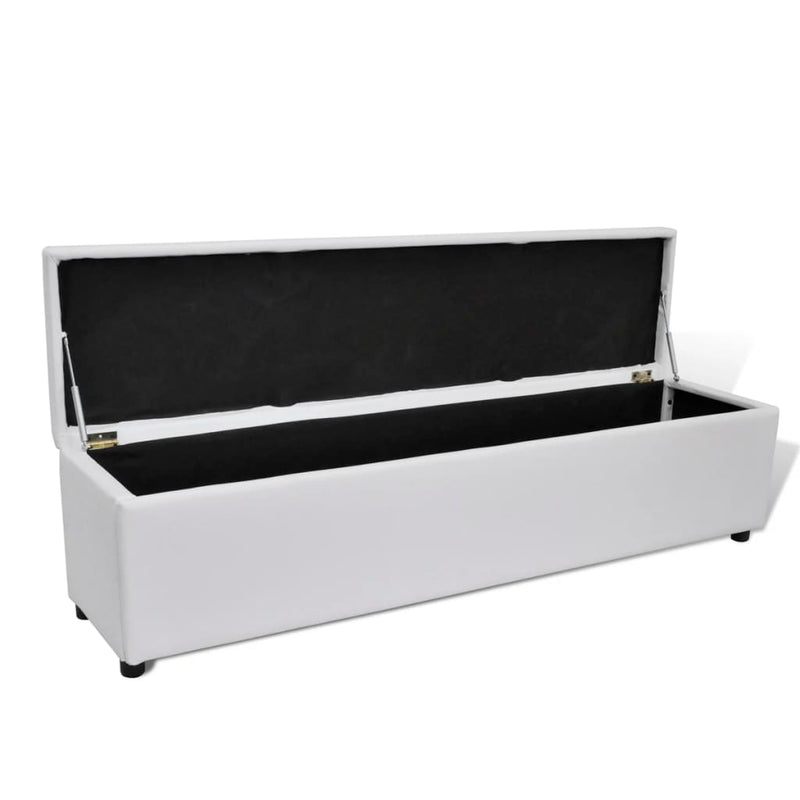 Storage Bench White Large Size
