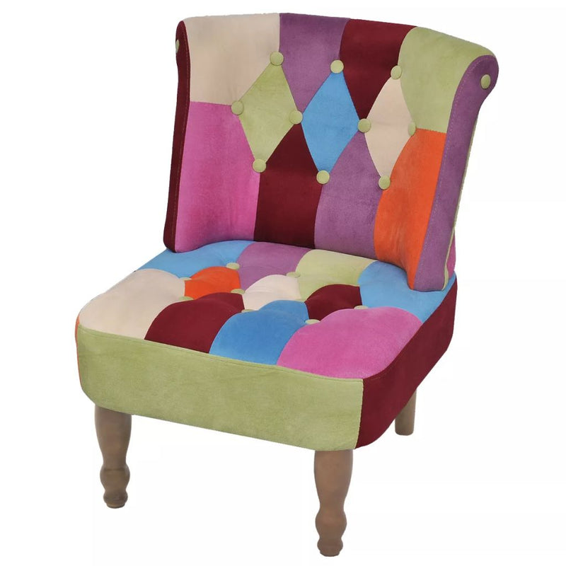 French Chair with Patchwork Design Fabric