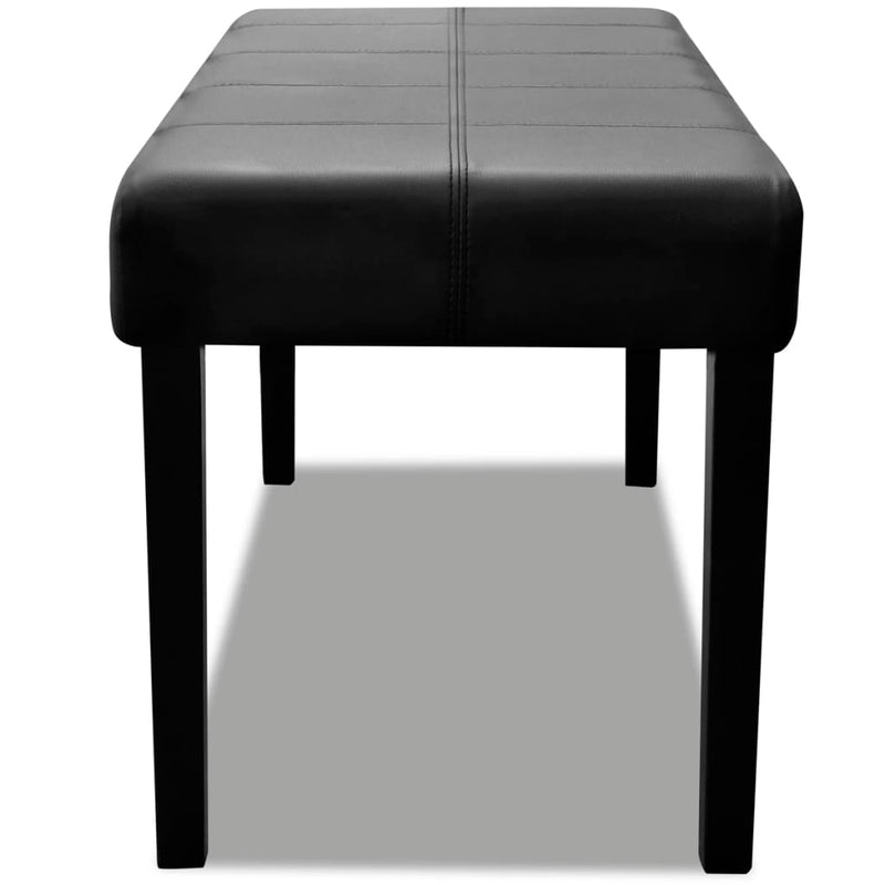 Black High Quality Artificial Leather Bench