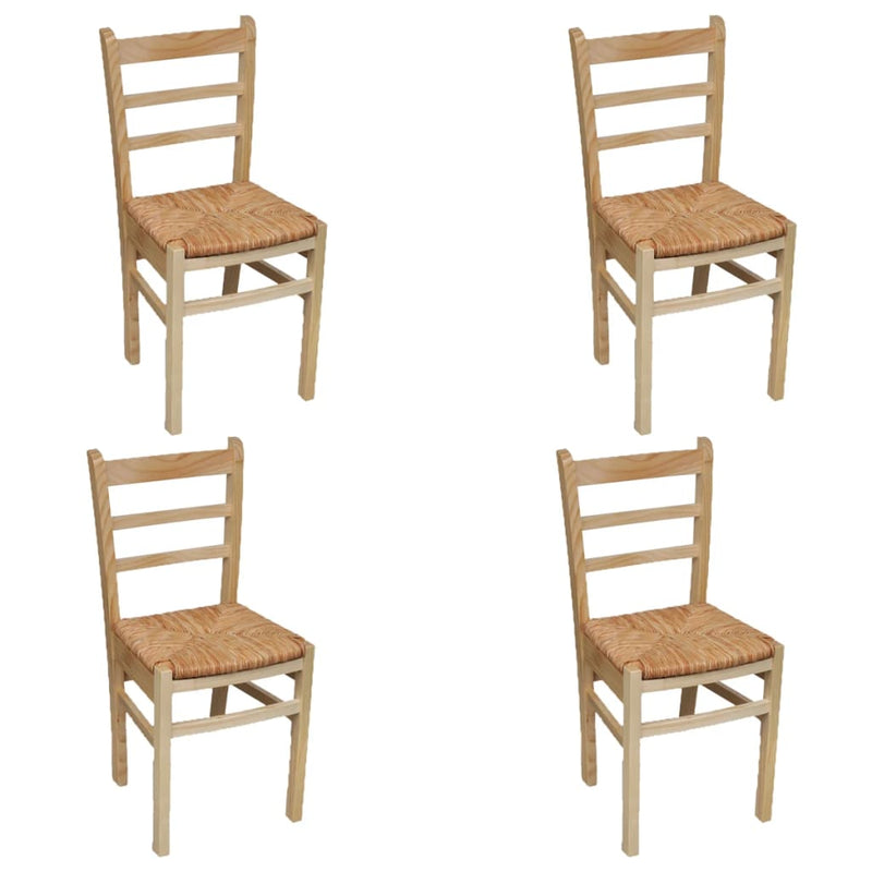 Dining Chairs 4 pcs Pinewood
