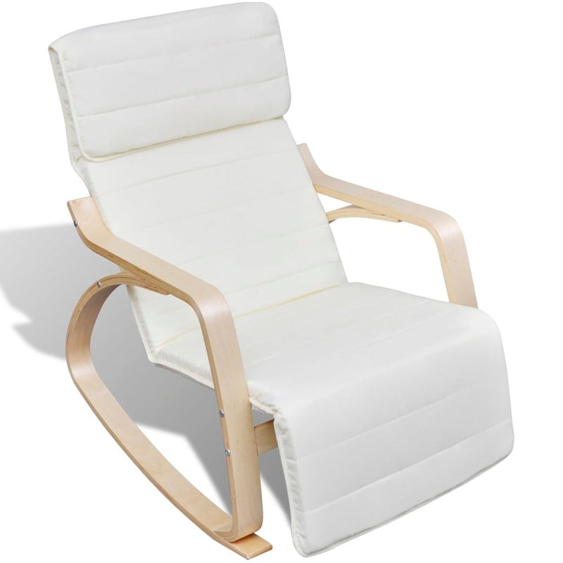Rocking Chair Cream Bentwood and Fabric