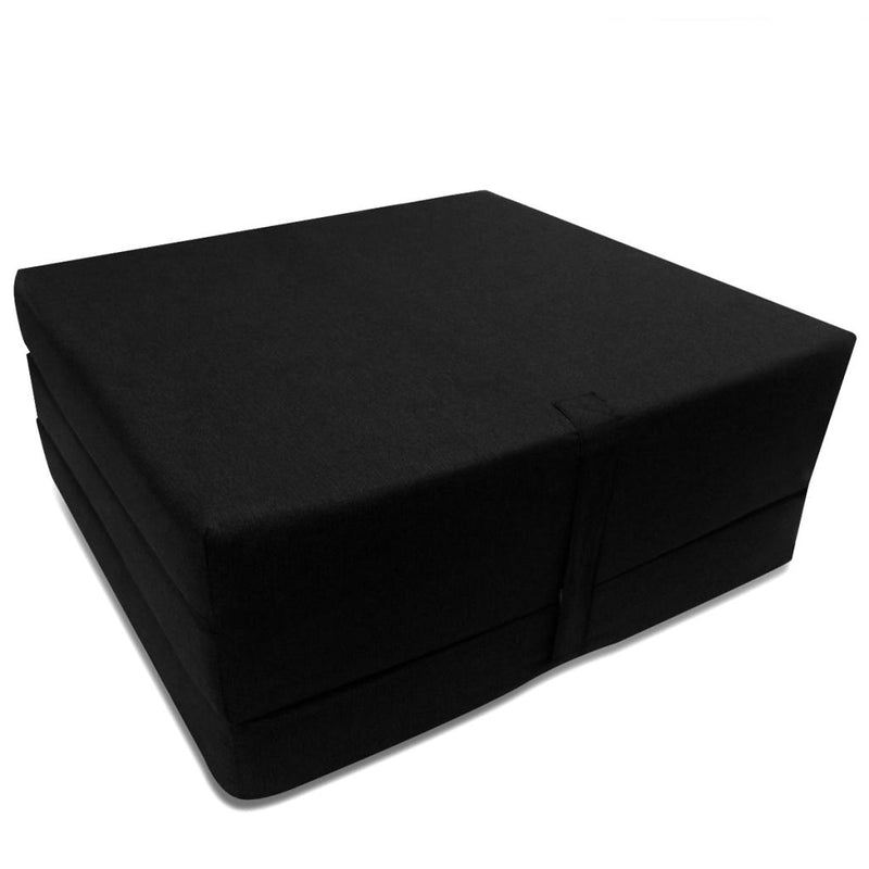 Trifold Foam Mattress 190 x 70 x 9 cm Black